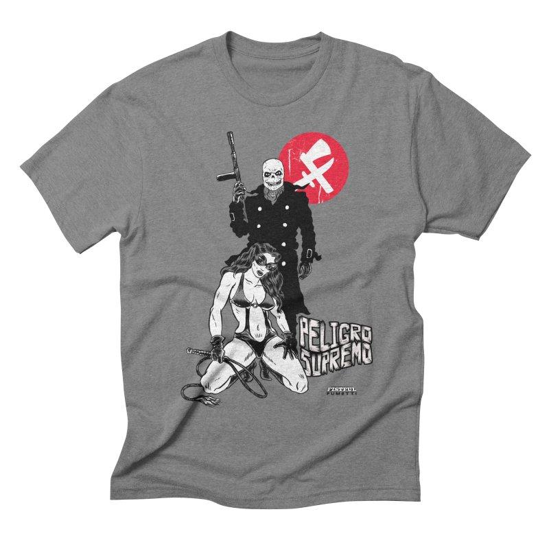 Peligro Supremo in Men's Triblend T-shirt Grey Triblend by aziritt's Artist Shop
