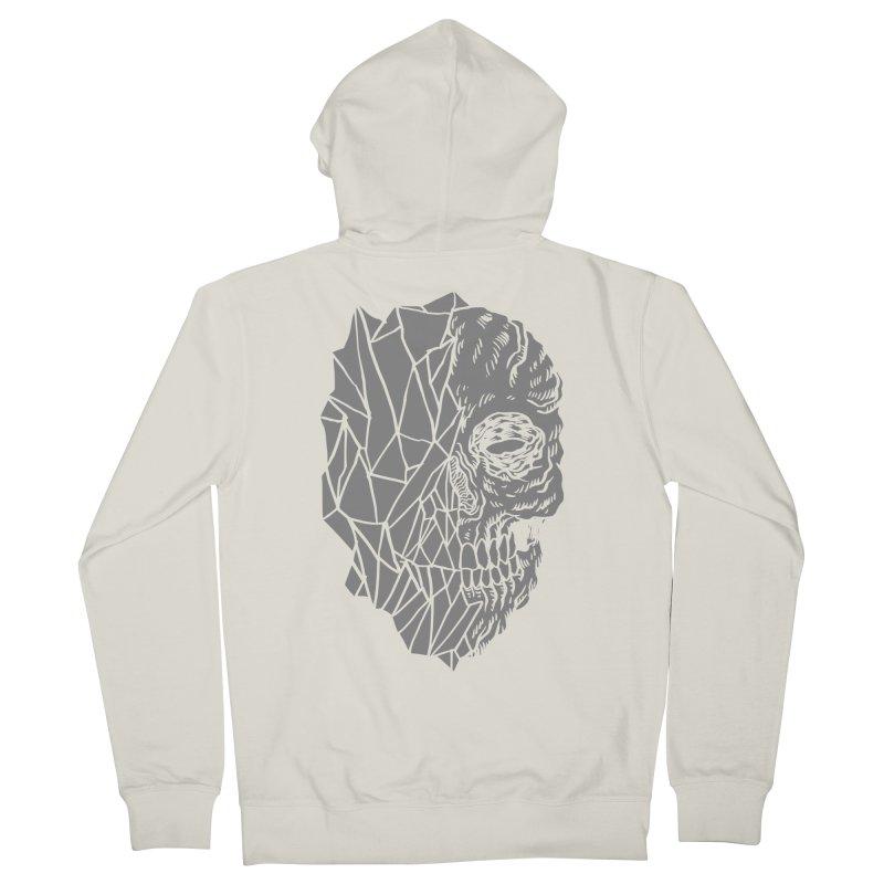 Crystal Skull Men's Zip-Up Hoody by aziritt's Artist Shop