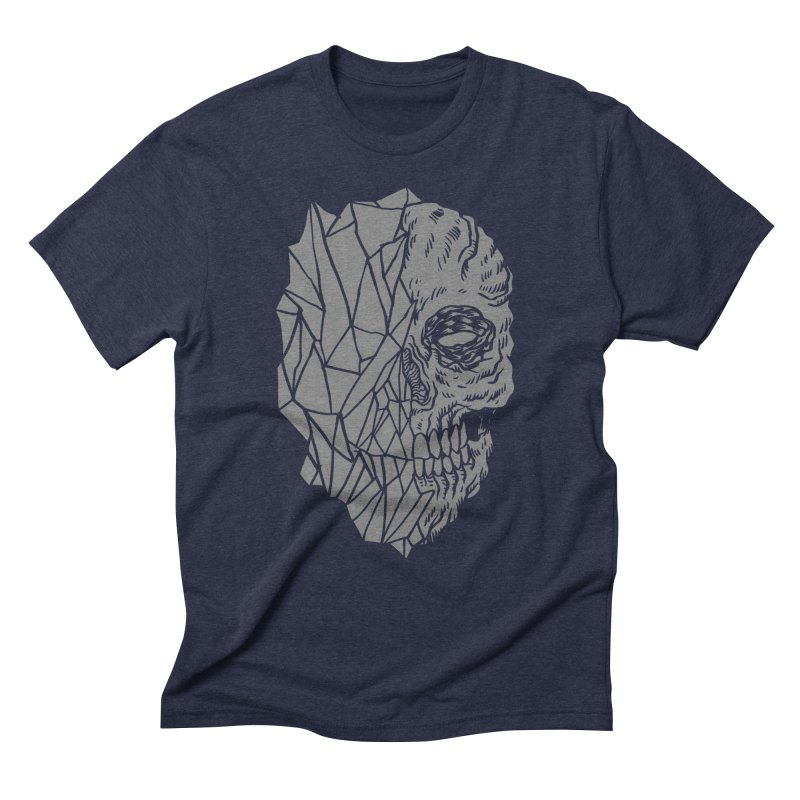Crystal Skull Men's Triblend T-Shirt by aziritt's Artist Shop