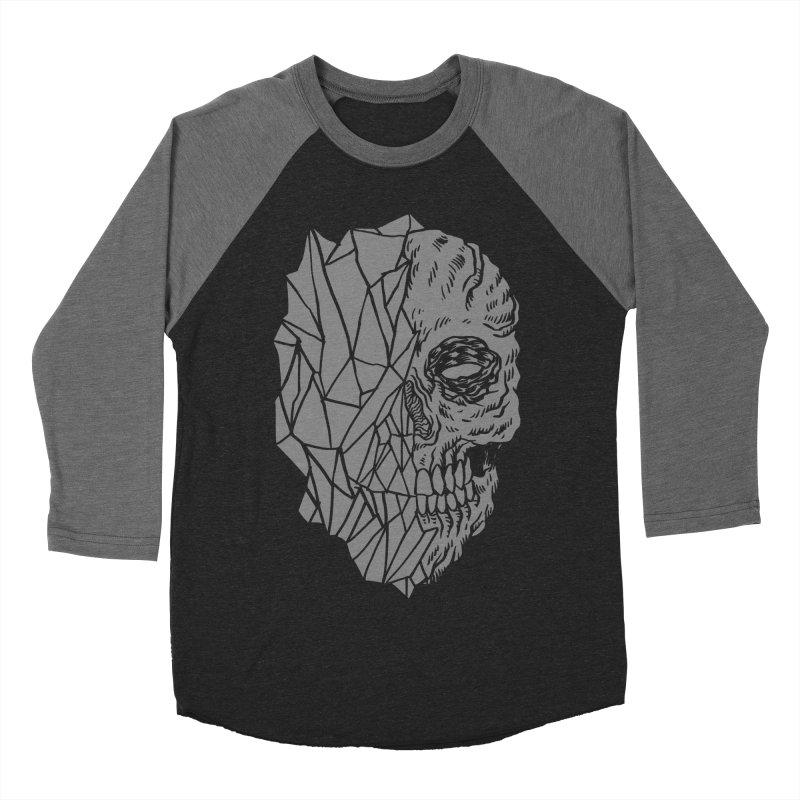 Crystal Skull Women's Baseball Triblend Longsleeve T-Shirt by aziritt's Artist Shop