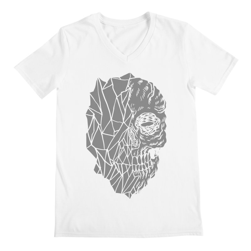 Crystal Skull Men's V-Neck by aziritt's Artist Shop