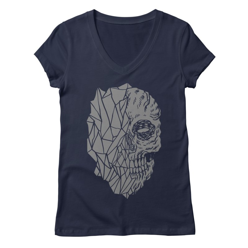 Crystal Skull Women's Regular V-Neck by Alexis Ziritt