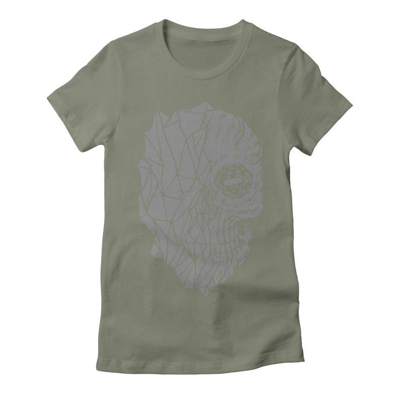 Crystal Skull Women's Fitted T-Shirt by aziritt's Artist Shop
