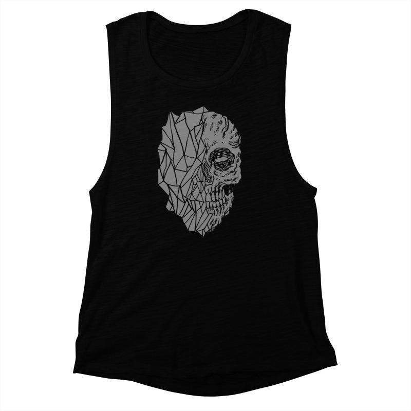 Crystal Skull Women's Muscle Tank by aziritt's Artist Shop