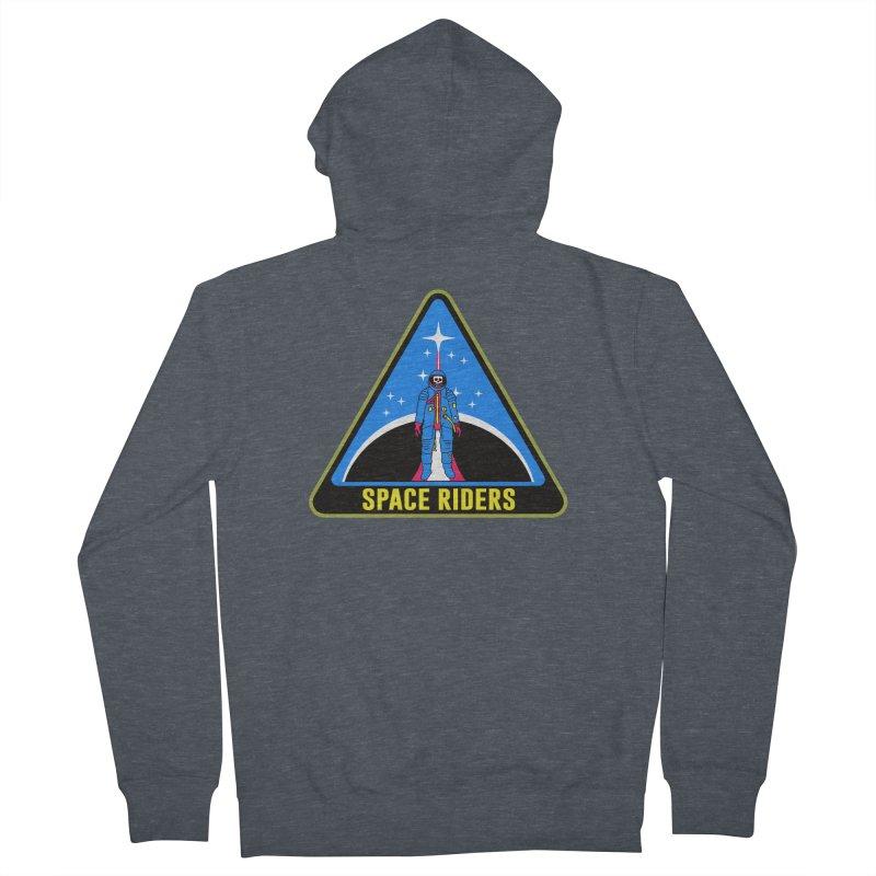 Space Riders (Logo) Men's Zip-Up Hoody by aziritt's Artist Shop