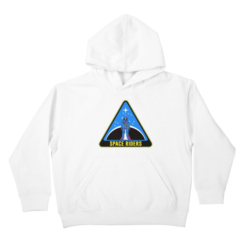 Space Riders (Logo) Kids Pullover Hoody by aziritt's Artist Shop