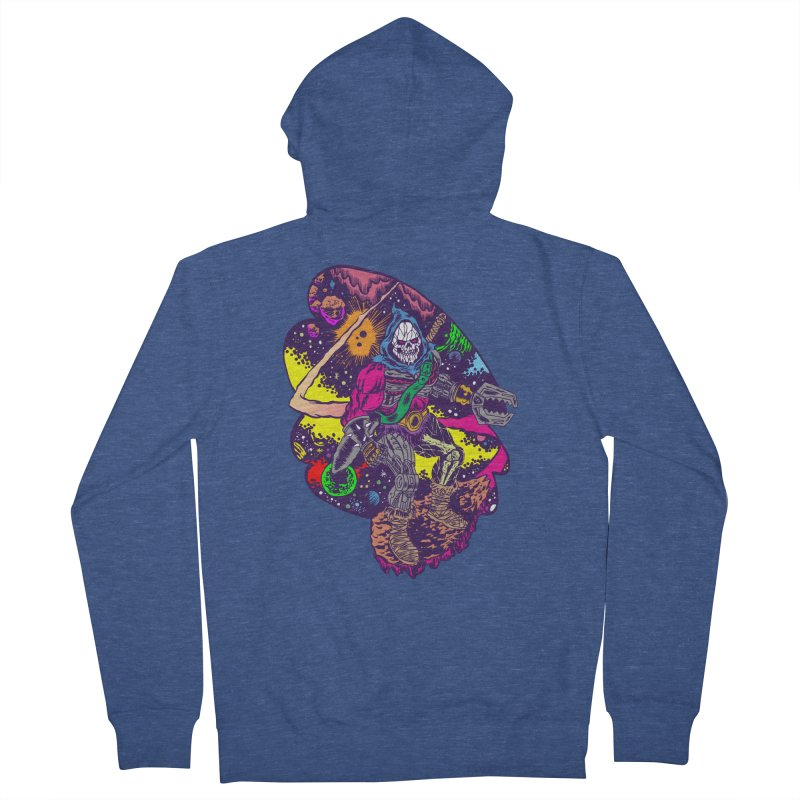 Space Wizard Men's French Terry Zip-Up Hoody by Alexis Ziritt