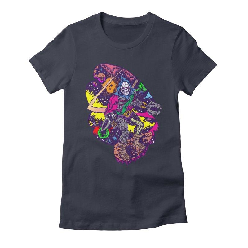 Space Wizard Women's Fitted T-Shirt by aziritt's Artist Shop