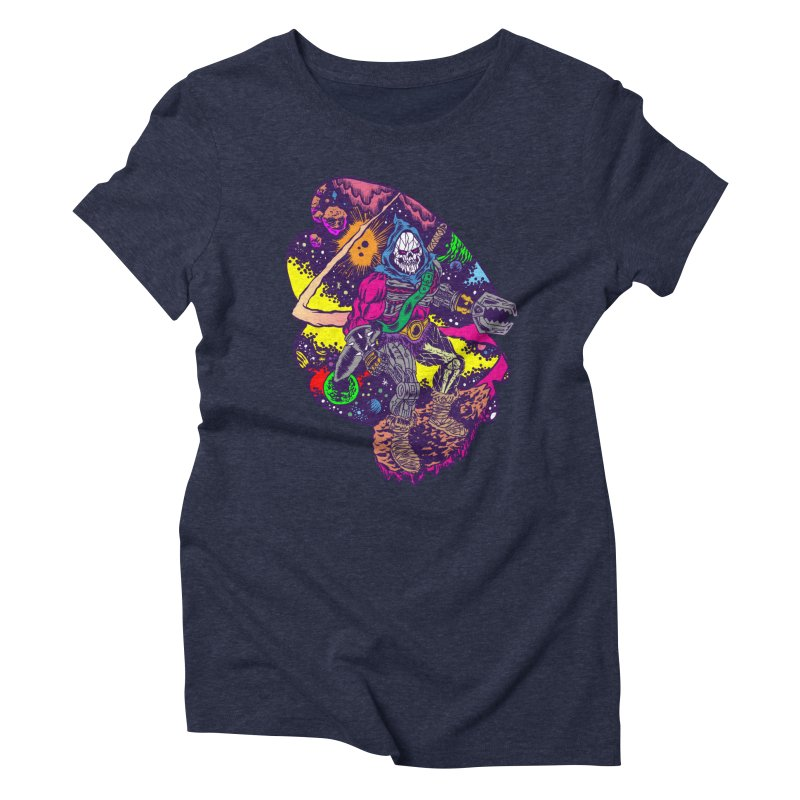 Space Wizard Women's Triblend T-shirt by aziritt's Artist Shop