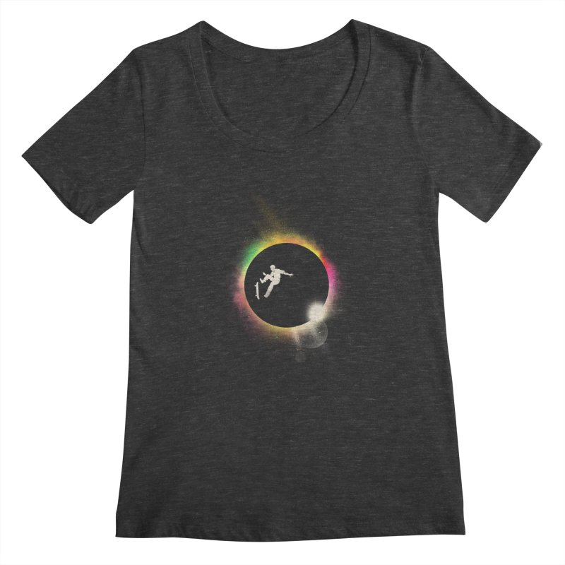 Skate Eclipse Women's Scoopneck by azrhon's Artist Shop