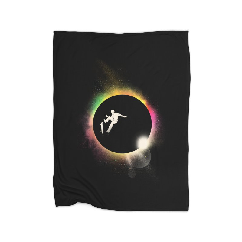 Skate Eclipse Home Blanket by azrhon's Artist Shop