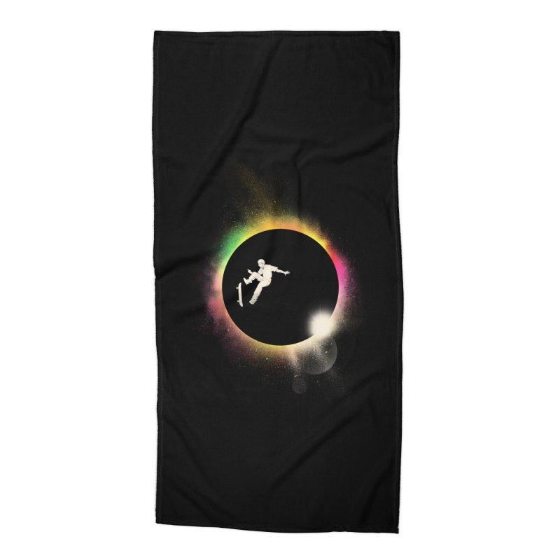 Skate Eclipse Accessories Beach Towel by azrhon's Artist Shop