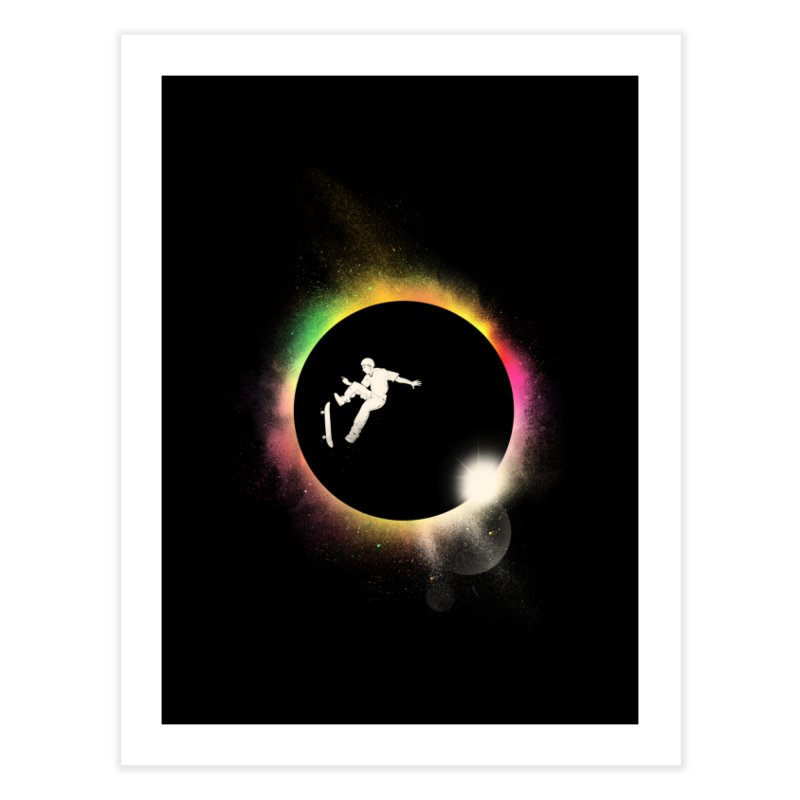 Skate Eclipse Home Fine Art Print by azrhon's Artist Shop