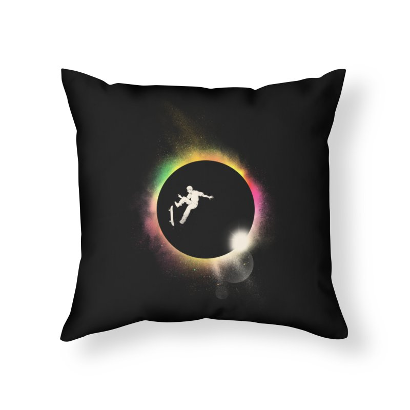 Skate Eclipse Home Throw Pillow by azrhon's Artist Shop