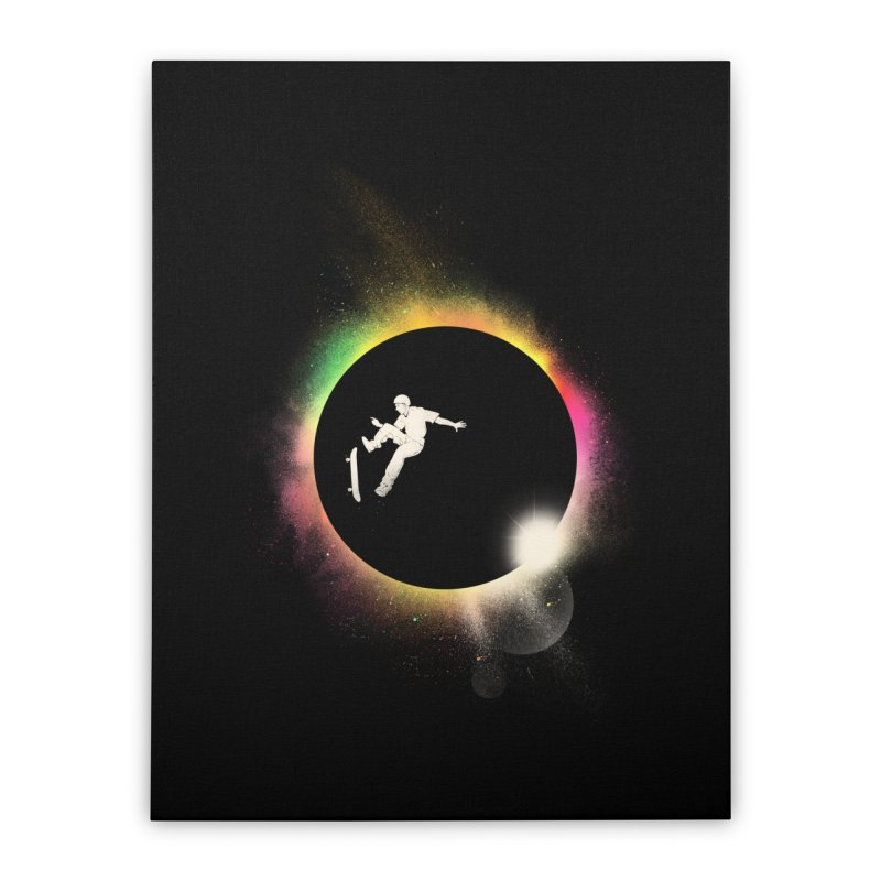 Skate Eclipse Home Stretched Canvas by azrhon's Artist Shop