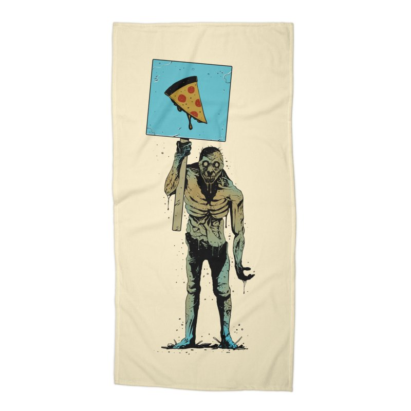 I want Pizza Accessories Beach Towel by azrhon's Artist Shop