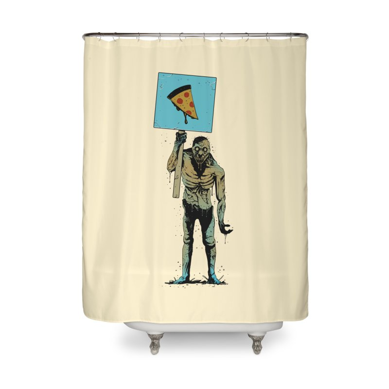 I want Pizza Home Shower Curtain by azrhon's Artist Shop