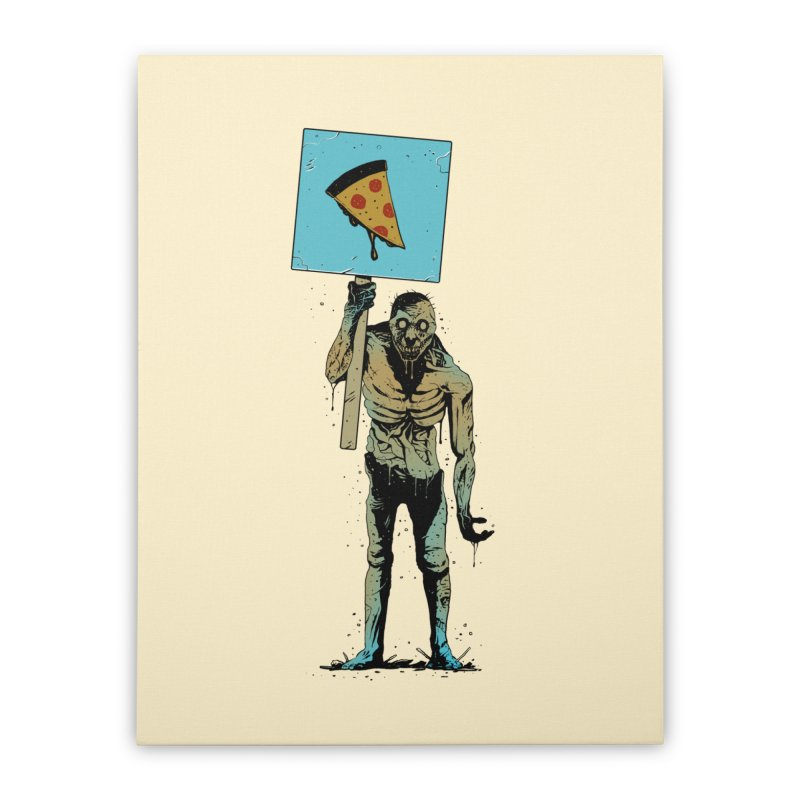 I want Pizza Home Stretched Canvas by azrhon's Artist Shop
