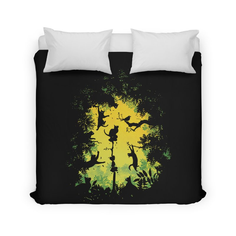 Cats in Action Home Duvet by azrhon's Artist Shop