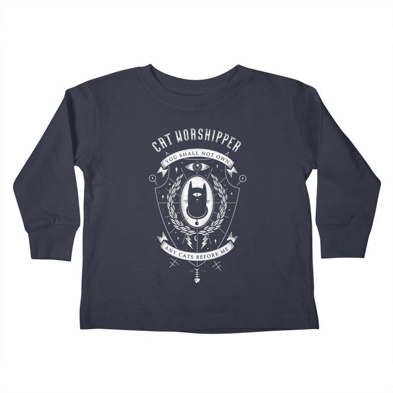 Cat Worshipper Kids Toddler Longsleeve T-Shirt by azrhon's Artist Shop