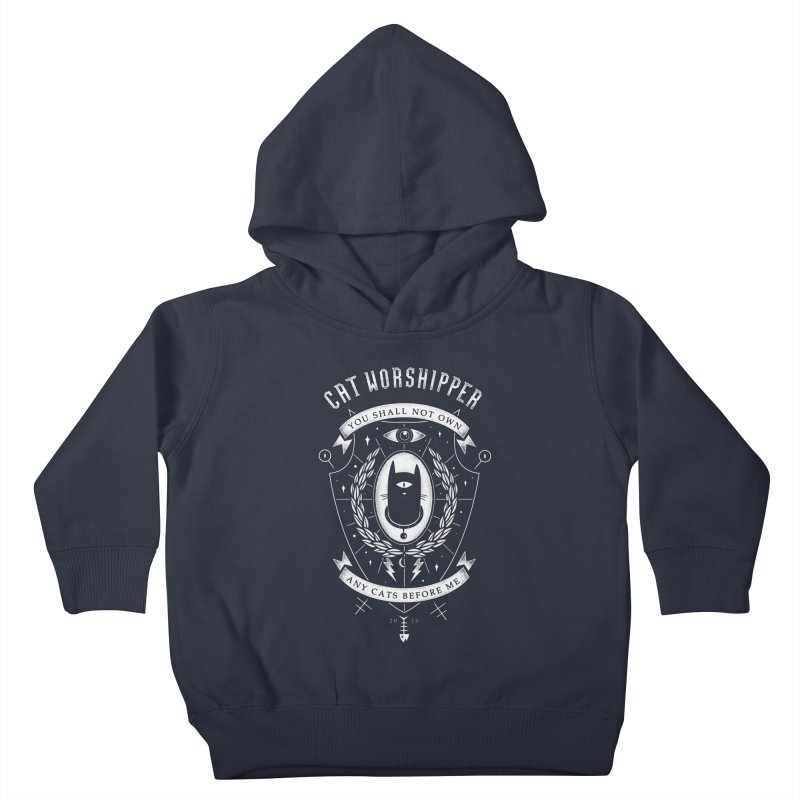 Cat Worshipper Kids Toddler Pullover Hoody by azrhon's Artist Shop
