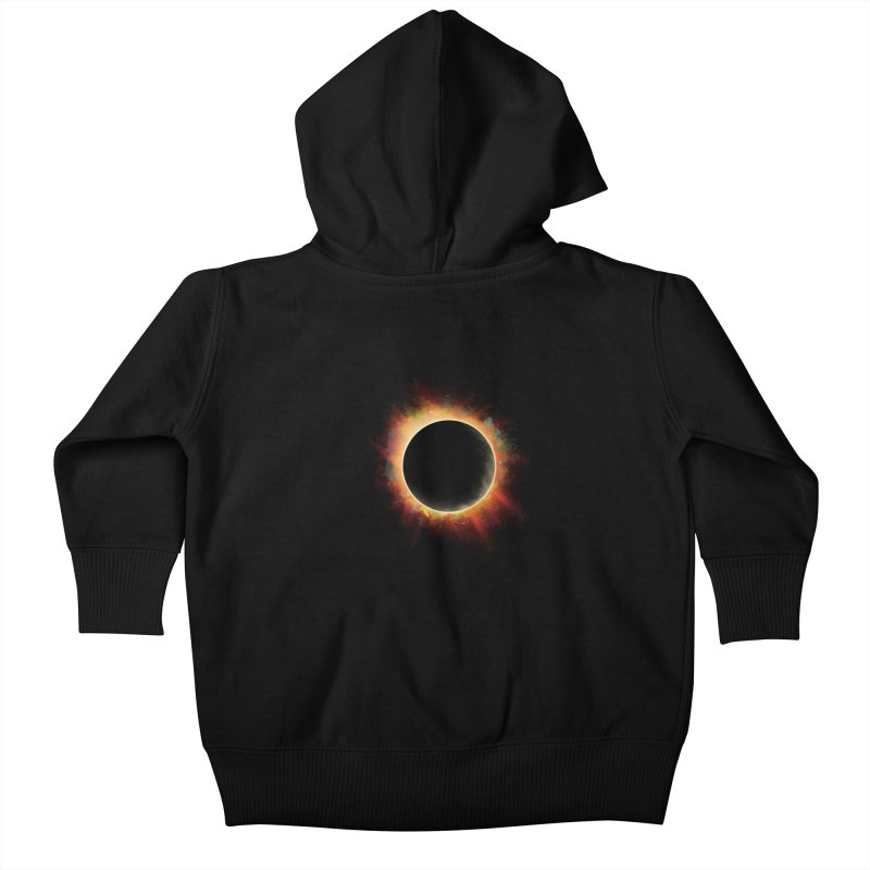 Colors of Eclipse Kids Baby Zip-Up Hoody by azrhon's Artist Shop
