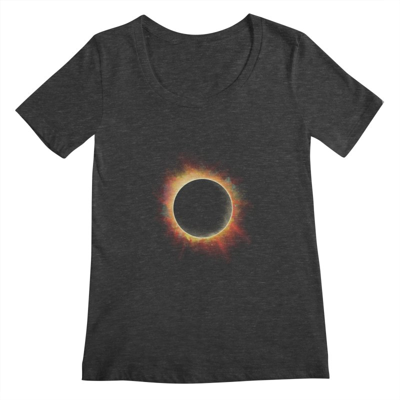 Colors of Eclipse Women's Scoopneck by azrhon's Artist Shop
