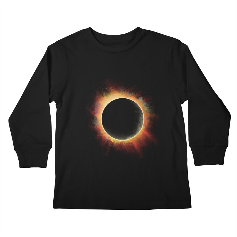 Colors of Eclipse Kids Longsleeve T-Shirt by azrhon's Artist Shop