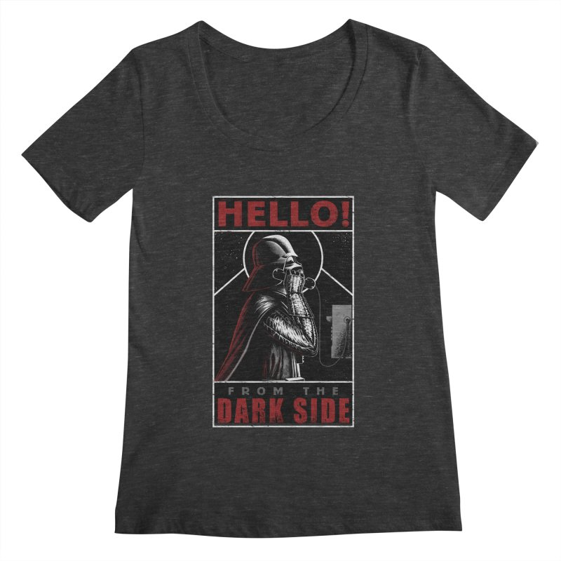Hello! Women's Scoopneck by azrhon's Artist Shop