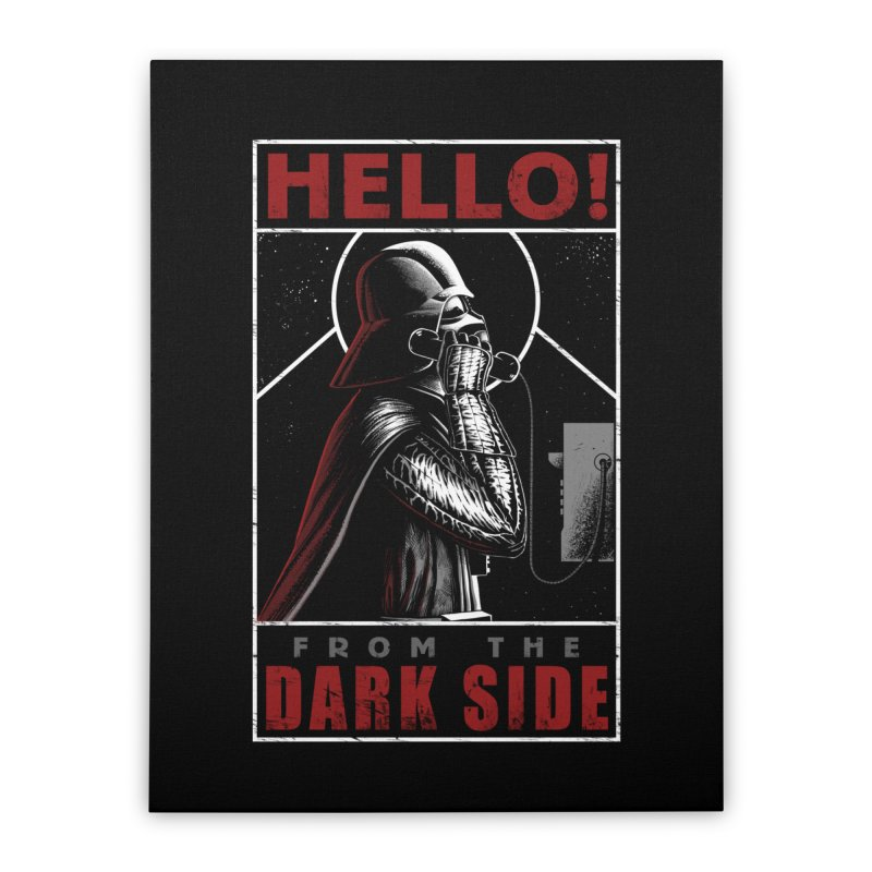 Hello! Home Stretched Canvas by azrhon's Artist Shop