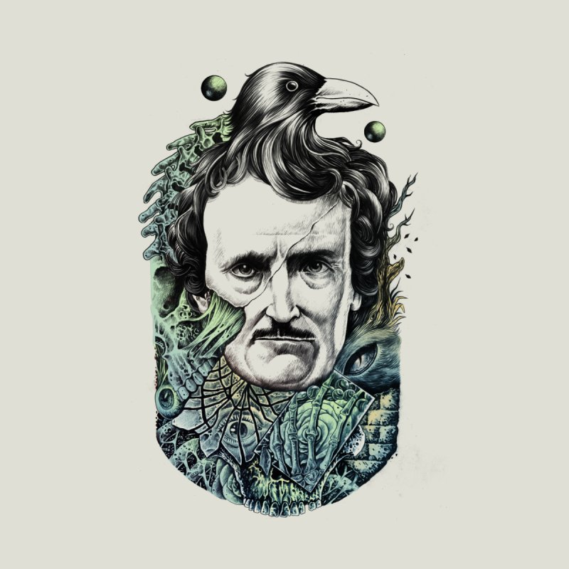 Edgar Allan Poe None  by azrhon's Artist Shop