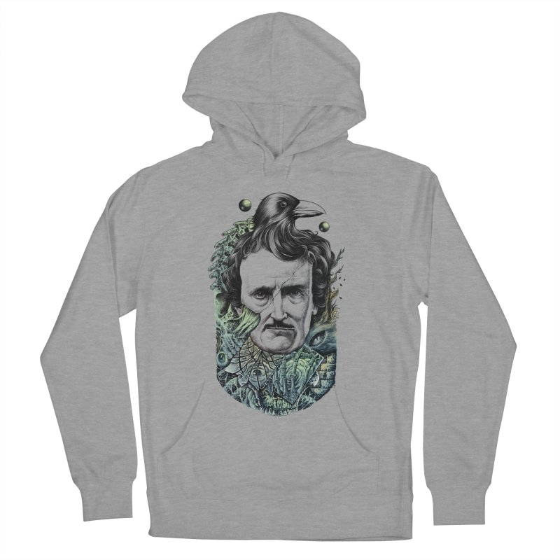 Edgar Allan Poe Women's Pullover Hoody by azrhon's Artist Shop