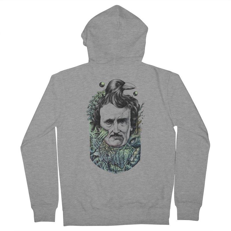 Edgar Allan Poe Men's Zip-Up Hoody by azrhon's Artist Shop