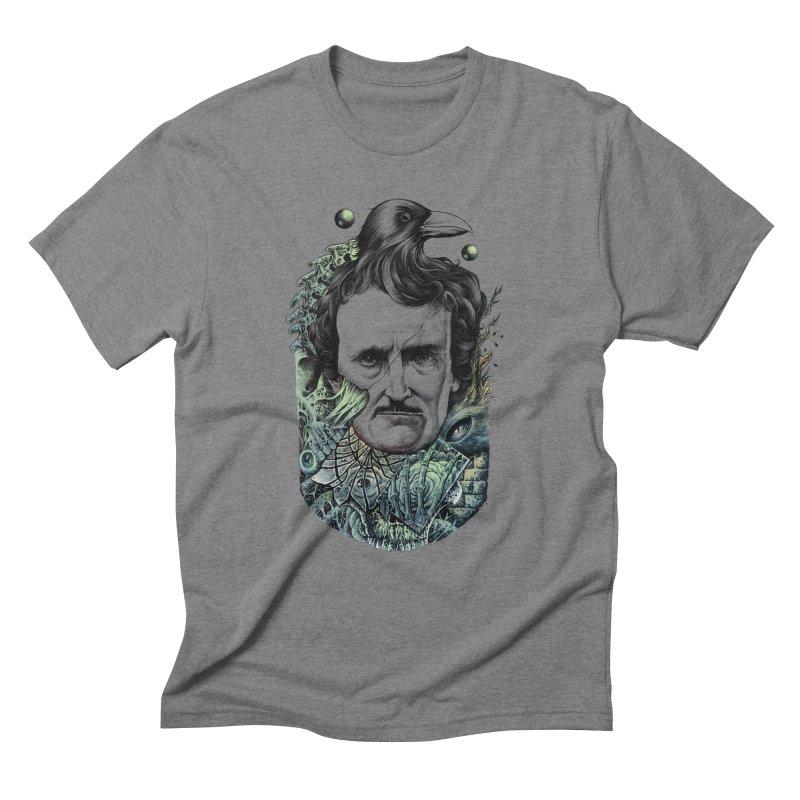 Edgar Allan Poe Men's Triblend T-Shirt by azrhon's Artist Shop