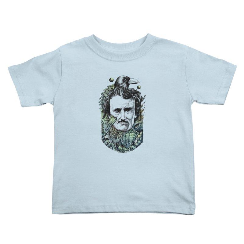 Edgar Allan Poe Kids Toddler T-Shirt by azrhon's Artist Shop