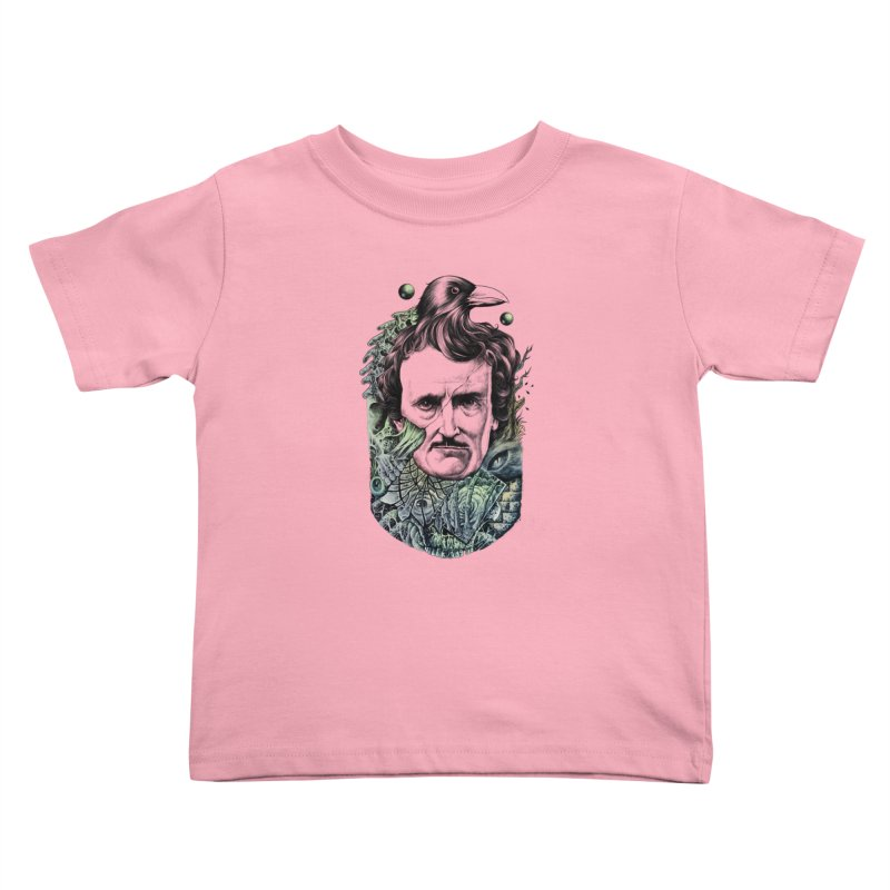 Edgar Allan Poe Kids Toddler T-Shirt by azrhon's Artist Shop