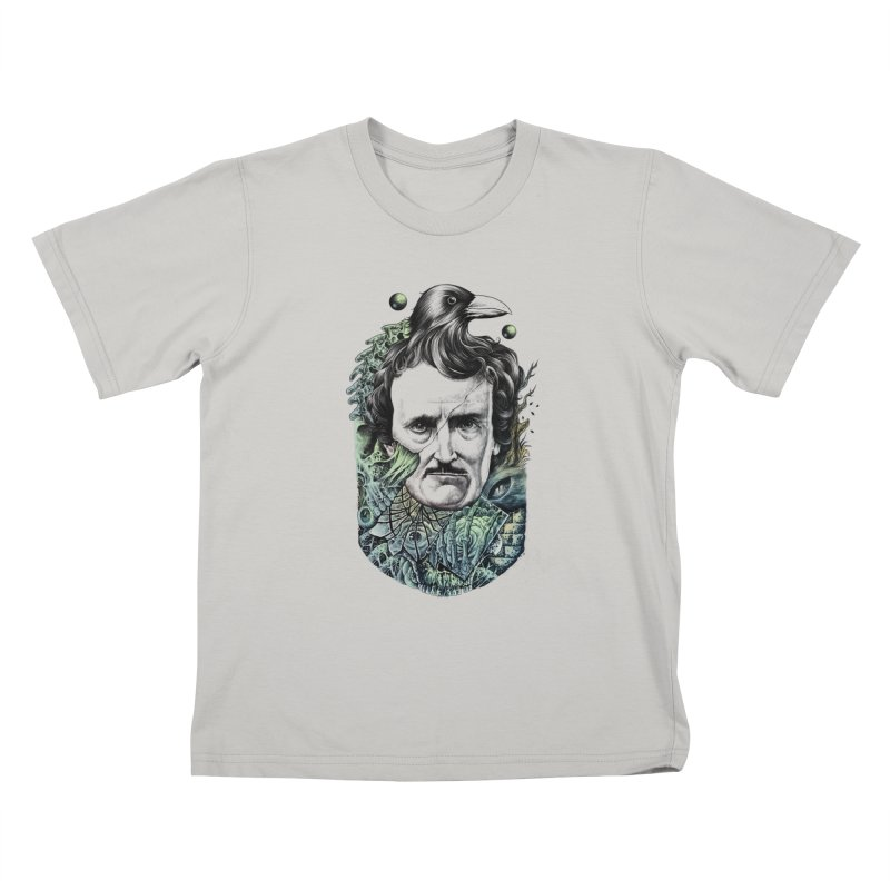 Edgar Allan Poe Kids T-Shirt by azrhon's Artist Shop