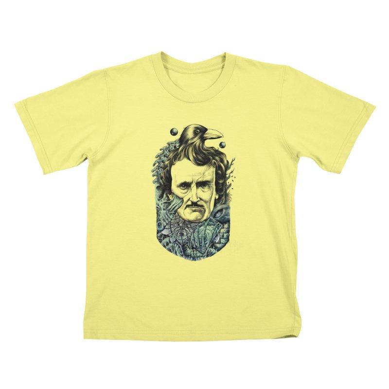 Edgar Allan Poe Kids T-shirt by azrhon's Artist Shop