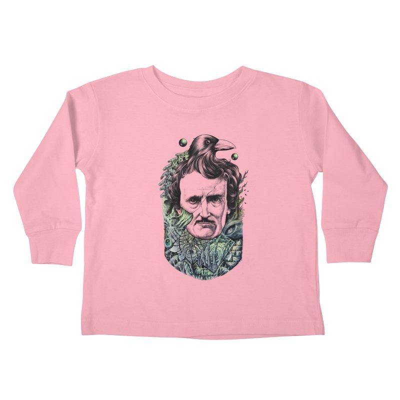 Edgar Allan Poe Kids Toddler Longsleeve T-Shirt by azrhon's Artist Shop