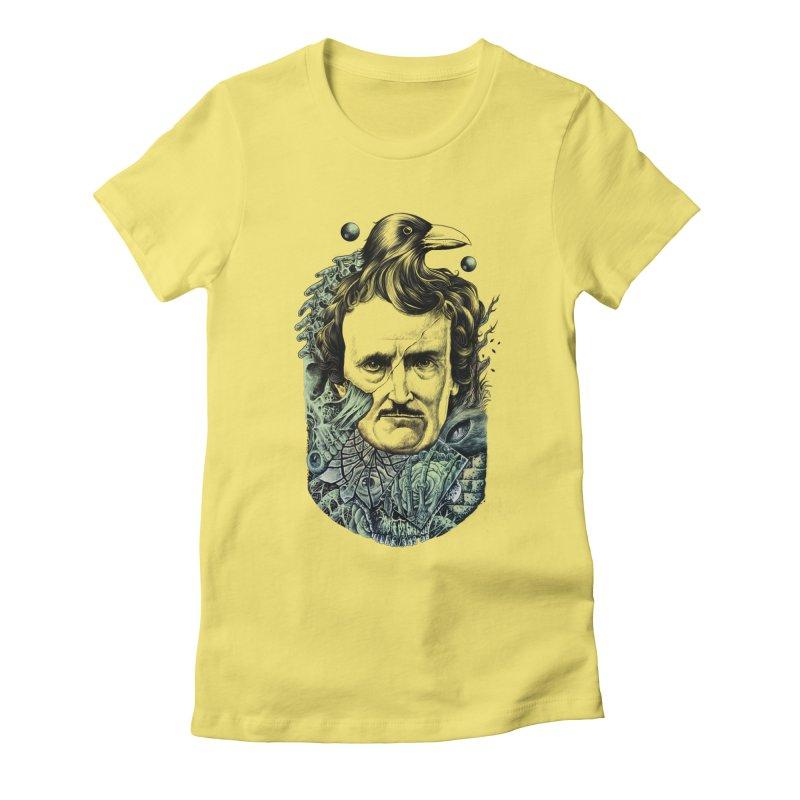 Edgar Allan Poe Women's Fitted T-Shirt by azrhon's Artist Shop