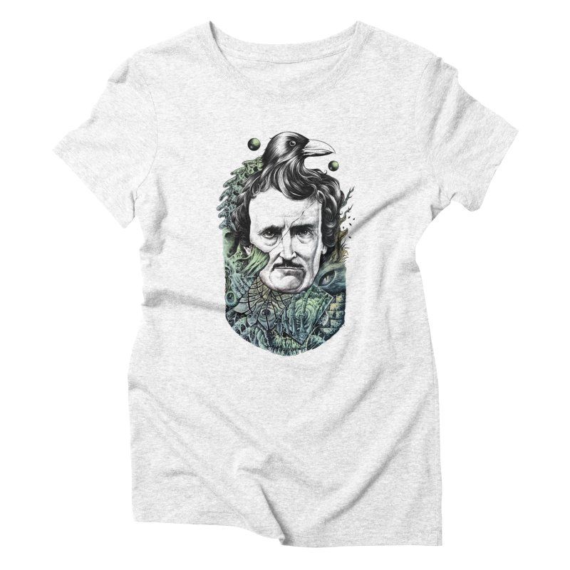 Edgar Allan Poe Women's Triblend T-shirt by azrhon's Artist Shop