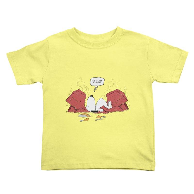 Dreaming! Kids Toddler T-Shirt by azrhon's Artist Shop
