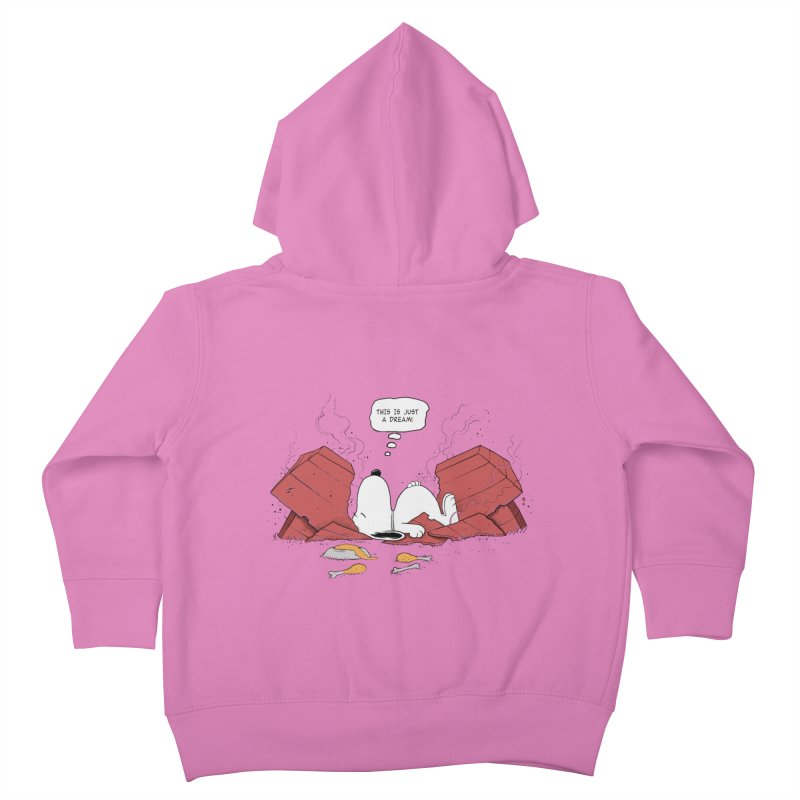 Dreaming! Kids Toddler Zip-Up Hoody by azrhon's Artist Shop