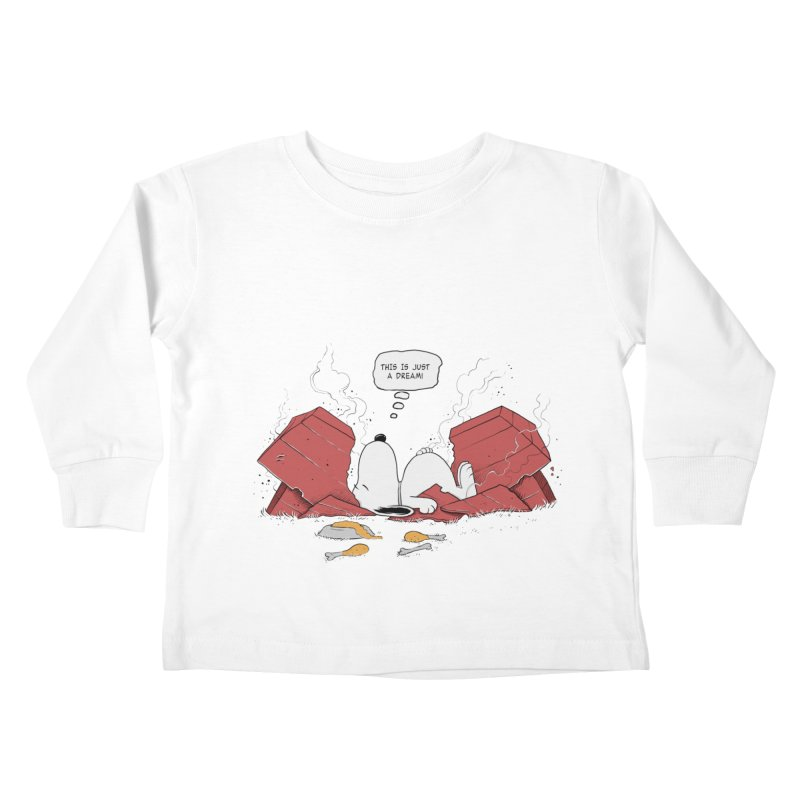 Dreaming! Kids Toddler Longsleeve T-Shirt by azrhon's Artist Shop
