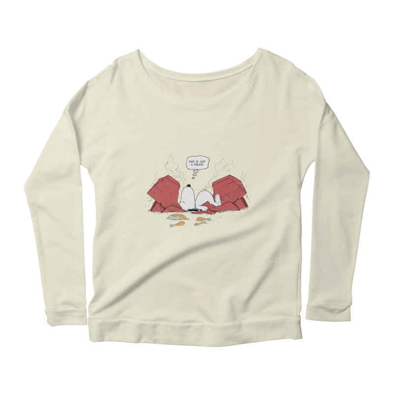 Dreaming! Women's Longsleeve Scoopneck  by azrhon's Artist Shop