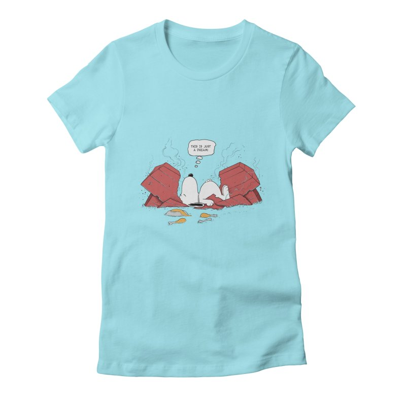 Dreaming! Women's Fitted T-Shirt by azrhon's Artist Shop