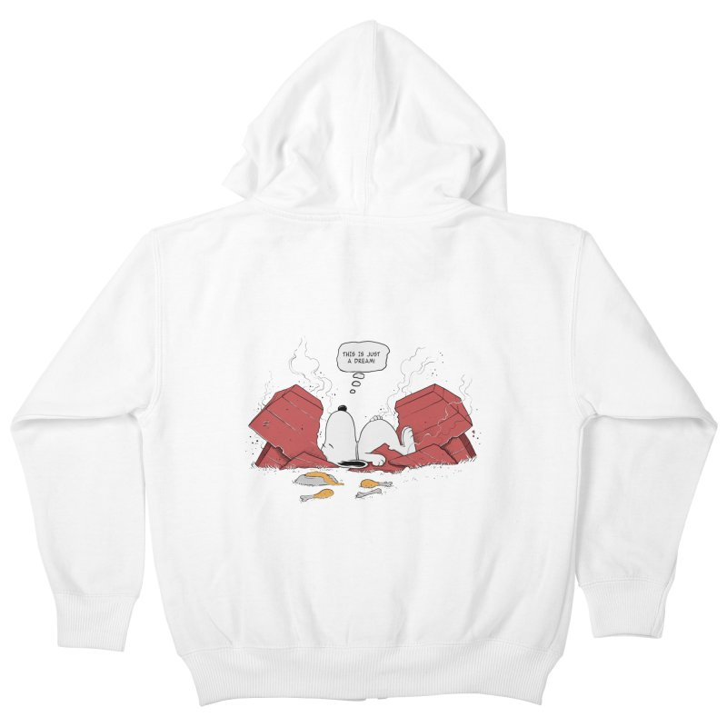 Dreaming! Kids Zip-Up Hoody by azrhon's Artist Shop