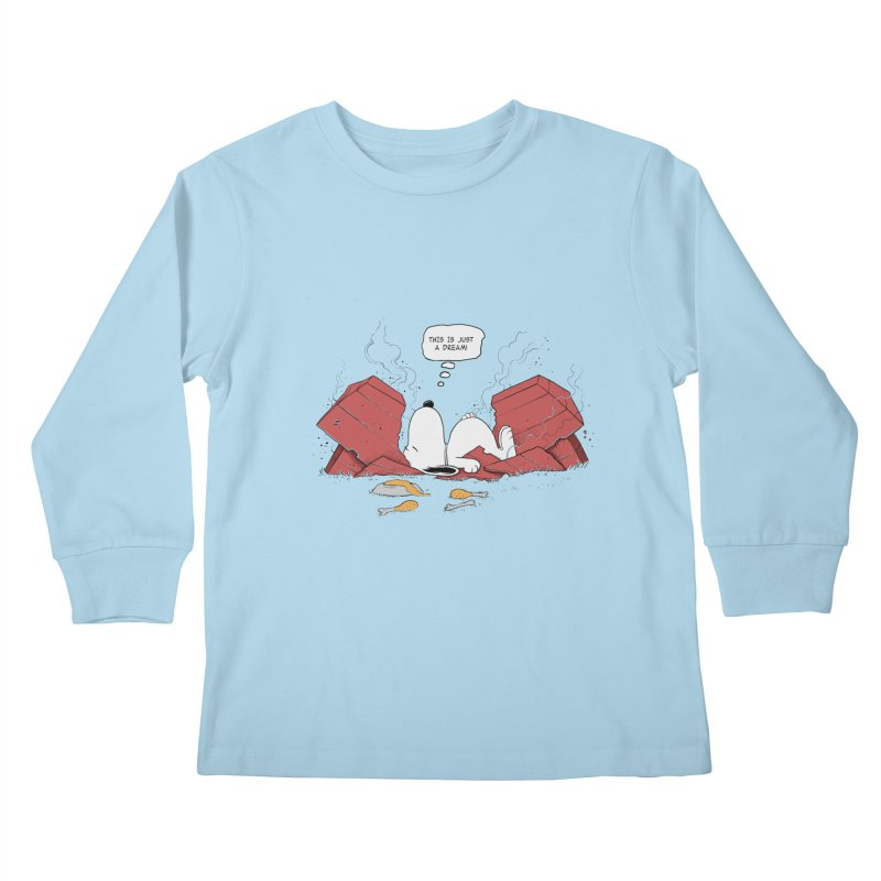 Dreaming! Kids Longsleeve T-Shirt by azrhon's Artist Shop