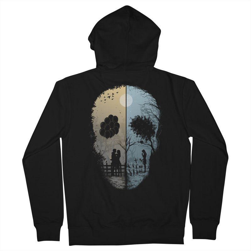 Skull Story Men's Zip-Up Hoody by azrhon's Artist Shop