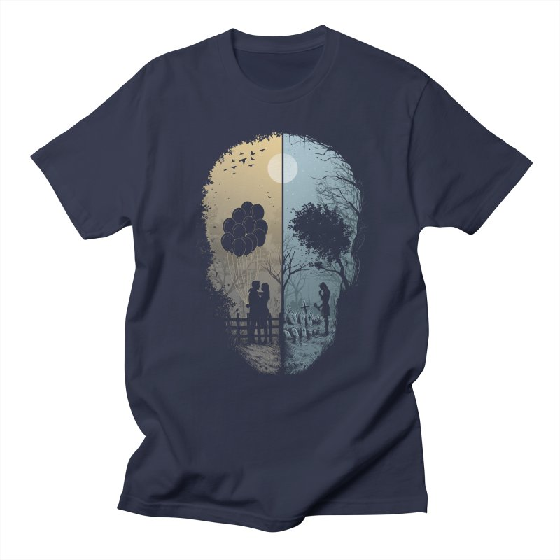 Skull Story Men's T-shirt by azrhon's Artist Shop